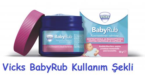 Vicks BabyRub Kullanım Şekli
